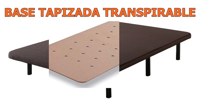 Base tapizada transpirable