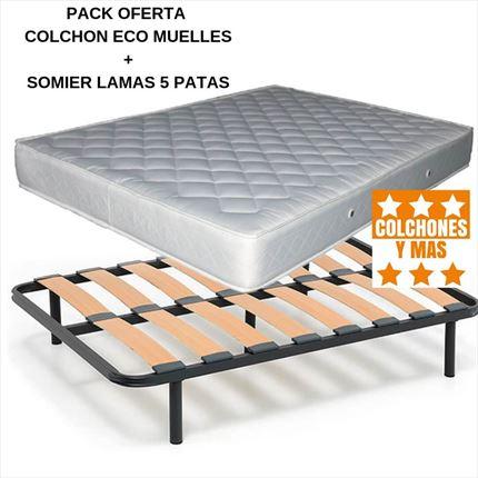 Oferta Somier Y Colchon 135.Packs Colchon Y Somier En Oferta En Colchones Y Mas