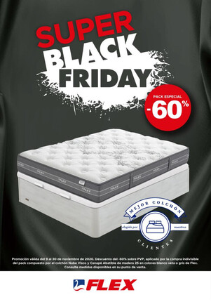 Pack Super Black Friday Colchón Flex Nube + Canapé Flex 60%